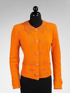 Sweater Elsa Schiaparelli, 1938 The Metropolitan Museum of Art - OMG that dress!