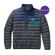 Patagonia Men\'s Down Snap-T\u00AE Pullover - Smolder Blue SMDB