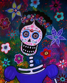 Lady Frida. Original painting available for sale . email prisarts@aol.com