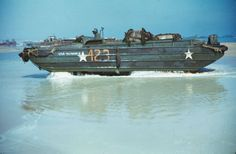 US soldiers pilot an amphibious 'duck' as it comes ashore from its landing craft in the wake of the D-Day invasion by Allied forces during World War II, Normandy, France, Get premium, high resolution news photos at Getty Images D Day Normandy, Normandy France, Normandy Beach, D Day Invasion, D Day Landings, Landing Craft, Life Pictures, War Machine, Military History