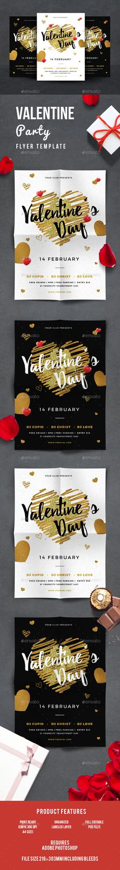 Valentines Flyer Template PSD