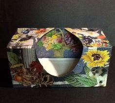 Tissue box #3c ~ ©NSoppelsa ~ #collage #art #cat #decoupage #ephemera #decor