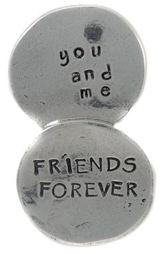 Crosby & Taylor - pewter token - Friends Forever