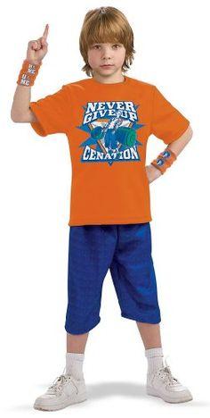 Large Boys Deluxe Padded John Cena Costume - Dexluxe Childs Size ...