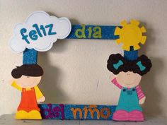 Dia del niñ@                                                       … Classroom Art Projects, Art Classroom, Projects For Kids, Children's Day Craft, Minnie Mouse Party, Mouse Parties, Transitional Kindergarten, Child Day, School Decorations