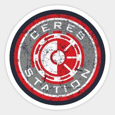 Ceres Station - The Expanse - Sticker The Expanse Ships, Miss Detective, Star Trek Emblem, Ship Logo, Altered Carbon, Stargate, Sci Fi Fantasy, Lotr, Science Fiction