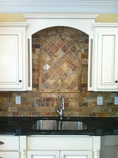 Traditional Home Stone Backsplash Design, Pictures, Remodel, Decor and Ideas - page 18