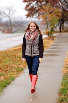 f8a3e75d77bd cute winter outfit ideas | how to style a plaid blanket scarf | herringbone  vest outfit ideas \ what to wear with a blanket scarf | a memory of us