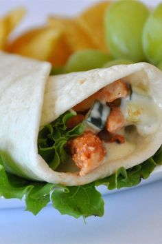 Simple Sweet and Spicy Chicken Wraps – All Recipes Spicy Chicken Wrap, Buffalo Chicken Wraps, Chicken Wrap Recipes, Sweet And Spicy Chicken, Roll Ups Recipes, Sandwich Fillings, Easy Summer Meals, Lunch Recipes, Sandwich Recipes