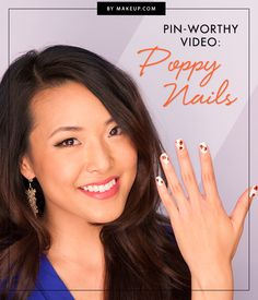 Floral nail art is one of our favorite things! YouTube star Jen Chae shows us how to do this DIY manicure in just a few easy steps. Click through for the video tutorial!