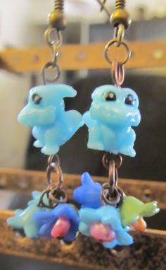 Teeny Zinkie Squinkie Blue Dragon Earrings by FUNNkyBlue on Etsy, $5.00
