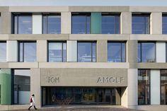 Image 14 of 23 from gallery of FOM Institute AMOLF / Dick van Gameren architecten. Photograph by Marcel van der Burg Modern Exterior, Exterior Design, Science Park, Multi Story Building, Van, Gallery, Facades, Medium, Houses