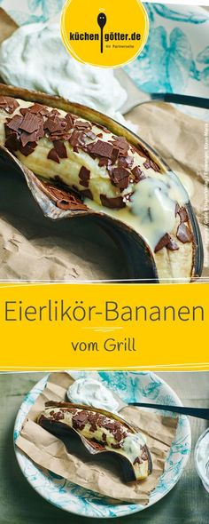 Advocaat bananas - Food and Drinks Ideas Bbq Desserts, Delicious Desserts, Dessert Recipes, Grill Dessert, Grill N Chill, Grill Party, Banana Recipes, Breakfast Dessert, Barbecue Recipes