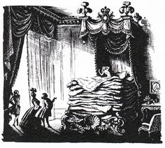 The Princess and the Pea, illustrated by Rex Whistler in 1935