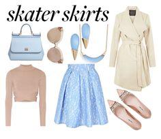 """Skater skirt!"" by fashion-freaks ❤ liked on Polyvore featuring Jane Norman, Jonathan Simkhai, Miu Miu, Dolce&Gabbana, Linda Farrow, Alexis Bittar, women's clothing, women, female and woman"
