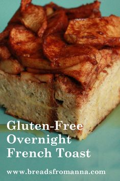 This delicious gluten-free french toast recipe is great for birthdays or other special days, or when you have overnight guests. Prepare the night before. Gf Recipes, Gluten Free Recipes, Cooking Recipes, Bread Recipes, Gluten Free Breakfasts, Gluten Free Desserts, Foods With Gluten, Sans Gluten, Gluten Free French Toast