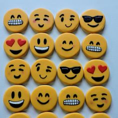Hand Decorated Emoji Sugar Cookies Will Make Texting More Fun