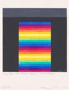 Herbert Bayer - Horizontal Spectrum, Acryl auf Papier