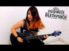 Check this #metal #girl out...I mean,her #guitar :))  She is #covering one of my favorite #songs  #5fdp #fivefingerdeathpunch #metalguitarcover #metalcover