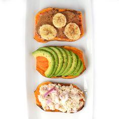 1. Sweet Potato Toast, Three Ways #sweetpotato #toast #recipes http://greatist.com/eat/sweet-potato-toast-recipes