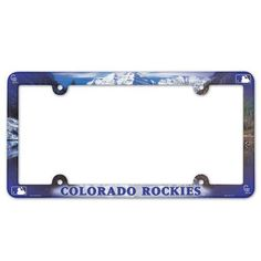 Colorado Rockies License Plate Frame - Full Color