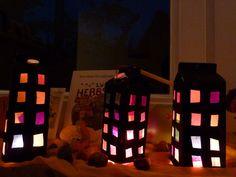 Márton napi lámpás Where To Recycle, Recycled Crafts, Diy Crafts, Diy For Kids, Crafts For Kids, Milk Box, How To Make Lanterns, Saint Martin, Creative Kids