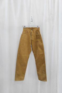 Vintage 1980's Mustard Corduroy Pants