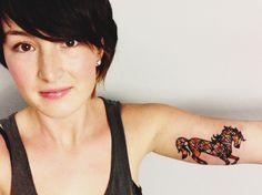 Horse tattoo, beautiful