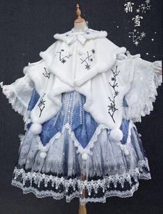Kawaii Fashion, Lolita Fashion, Cute Fashion, Cosplay Outfits, Anime Outfits, Pretty Outfits, Pretty Dresses, Lolita Gothic, Mode Kimono