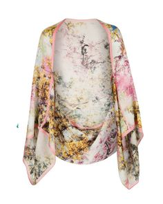 Pretty trees print cape scarf - Dusky Pink | Scarves | Ted Baker