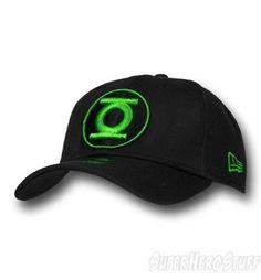 d84cd4b102e Green Lantern Black Green Round Symbol 39Thirty Cap