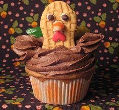 Turkey cupcake #Thanksgiving
