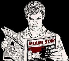 """25 Pieces Of """"Dexter"""" Fan Art Worthy Of A Final Season Tribute"""