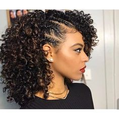54 Nice Cute Curly Hairstyles For Medium Hair 2017 Cute Curly 9 Easy Curly Hairstyles Natural Hair Hair Cuffs Curly Hair 10 Quick Easy Hairstyles For Natural Cu Cute Curly Hairstyles, Girl Hairstyles, Braided Hairstyles, Protective Hairstyles, Curly Haircuts, Hairstyles Pictures, Protective Styles, Stylish Hairstyles, Hairdos