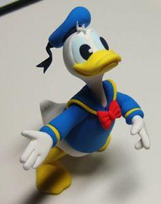 Turorial : How to make Donald Duck clay / Tutoriel : Réaliser Donald en pâte polymère source : http://blog.naver.com/rndmfxl
