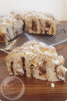Brioche bouclette à la pâte à tartiner… Des bouclettes au chocolat !!! http://www.bullesdegourmandises.com/brioche-bouclette-a-la-pate-a-tartiner-des-bouclettes-au-chocolat