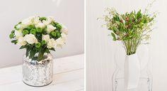 Nutzt Ihr Euer Wohnzimmer öfter sogar mal als Home-Office? Auch hier helfen Euch farblich passende Blumen, um konzentriert zu bleiben. Besonders die Kombination Grün-Weiß soll sehr förderlich für Eure Konzentration sein.