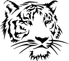 Tiger Head Art Decal Vinyl sticker For Car Wall Laptop Window by DecalMania13