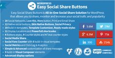 Inspired from Mashablestyle buttons (example of Mashablestyle buttons) - you can do them with Easy Social Share Buttons for WordPress with just a few settings. Set template to be Metro(Retina) (you can use any template that fits best on your site also)in Main Settings -> Template Go to Di…