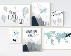 Adventure nursery decor, nursery decor airplane, world map nursery, adventure awaits, yellow . - Babyzimmer-ideens - You are in the right place about gender neutral nursery - Elephant Nursery Wall Decor, Map Nursery, Travel Theme Nursery, Woodland Nursery Decor, Baby Room Decor, Nursery Prints, Airplane Nursery, Boy Decor, Boy Nursery Art