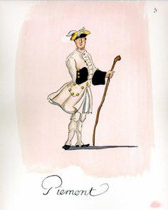 French Army 1735 - Infantry Regiment Piemont, by Gudenus.