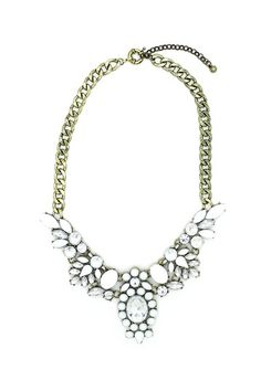 White Dagger Bib Necklace by Eye Candy Los Angeles on @HauteLook