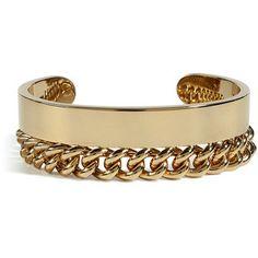 Maison Martin Margiela Bracelets Maison Martin Margiela Golden Twofold Bangle