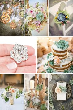 succulent wedding ideas that are in trend 57 Summer Wedding, Dream Wedding, Wedding Collage, Wedding Theme Inspiration, Desert Flowers, Wedding Decorations, Table Decorations, Absolutely Stunning, Wedding Designs