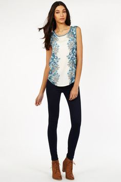 Oasis UK Midnight Garden Mirror top Floral #fashion #style #spring2013 #outfits