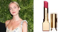 Claire Courtin-Clarins and Clarins Rouge Eclat Liptsick (in her favorite shade, Tropical Pink) Clarins image