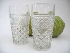 Glass tumbler Set of two 11 Oz Flat tumbler in the by Klassic, $18.00