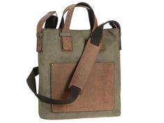 Shopper Leder Damentasche Businesstasche LEISURE oliv grün mit ranger Leder Besatz
