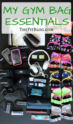 What I always have in my gym back to manage my diabetes plus my cool fitness gear