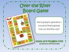 Printable Thanksgiving board game via www.pre-kpages.com